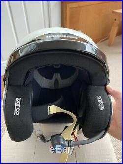 Sparco PRO RJ-3 Open Face Race Rally Helmet White SNELL FIA HANS