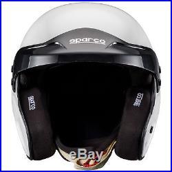 Sparco Pro RJ-3 Fibreglass Shell Car Racing/Race Crash Open Face Helmet/Lid