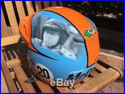 Steve Mcqeeun Tld Open Face Helmet Blue & Orange Troy Lee Designs