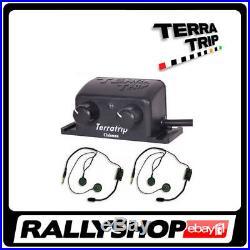 Terratrip Clubman INTERCOM ALL SET Amplifier 2 x Headset Open Face Helmet