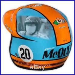Troy Lee Designs McQueen Open Face Helmet Blue/Orange