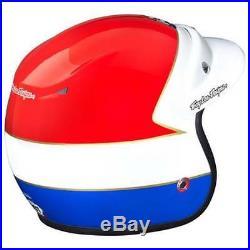 Troy Lee Open Face Retro Scrambler MX Motocross Helmet Wing Red/ Blue