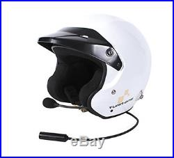 Turn One Jet-RS Open Face Rally Helmet FIA 8859-2015 White c/w Electronics