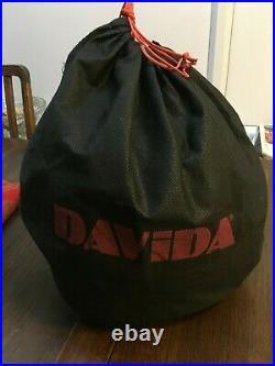 Used Davida Jet open face crash helmet