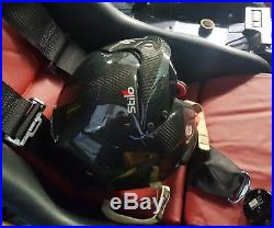 Used rally open face STILO WRC Carbon Piuma Helmet 57 size Medium inc FHR