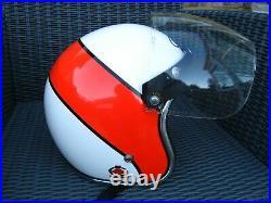 VINTAGE GRIFFIN OPEN FACE 1970s MOTORCYCLE CRASH HELMET & FLIP VISOR BELL KANGOL
