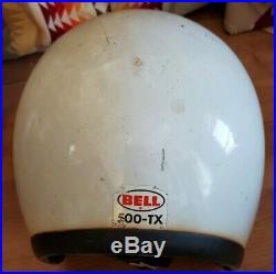VINTAGE ORIGINAL BELL TOPTEX 500-TX OPEN FACE MOTORCYCLE HELMET SIZE 60 or 7 1/2