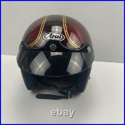 VTG Arai Motorcycle Racing Helmet Snell 1975 Open Face Challenger S Medium