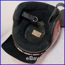 VTG Simpson Boat Racing Helmet 3/4 Open Face Snell'80 Orange Peak Paulson Visor
