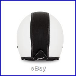 Vespa Fiber Lux White Black Open Face Motorcycle Crash Helmet New RRP £199.00