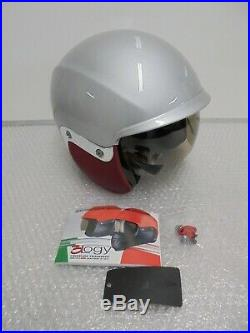 Vespa V-946 Open Face Fibreglass Motorcycle Silver Crash Helmet New RRP £234.99