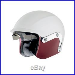 Vespa V-946 Open Face Fibreglass Motorcycle White Crash Helmet New RRP £234.99