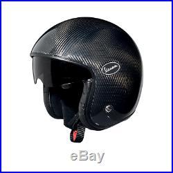 Vespa V-Carbon Open Face Jet Motorcycle Crash Helmet New RRP £219.99