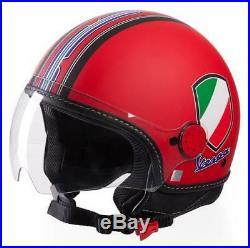 Vespa V-Stripes Helmet Red Vespa Scooter Helmet Medium Open Face Helmet