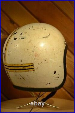 Vintage 1968 500-TX Bell Toptex 3/4 Open Face Motorcycle Racing Helmet 6 7/8