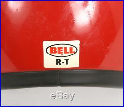 Vintage 1970's Bell TopTex R-T Red Open Face HELMET & White VISOR SEE PHOTOS