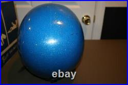 Vintage 1970's Buco Enduro 1678 Open Face Motorcycle Helmet Blue Size 7 7 5/8