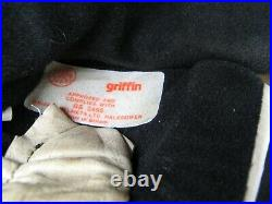 Vintage 1970's griffin jet open face motorcycle scooter helmet -bell kangol