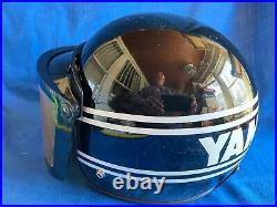 Vintage 1970s 1980s YAMAHA Open Face Motorcycle Helmet Black withFacesheild SZ L