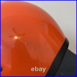 Vintage 1970s Bell Magnum II Orange Open Face Motorcycle Helmet 7 1/4 58 CM Mag
