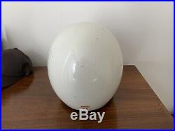 Vintage 1975 Bell White Open Face R-t Motorcycle Drag Helmet Size 7 1/4 RT