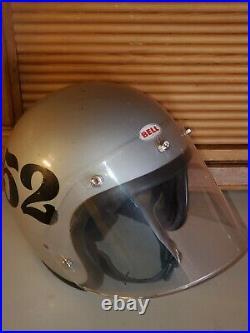 Vintage 1977 Bell Magnum Mag II Open Face Motorcycle Racing Helmet Large 7-3/8
