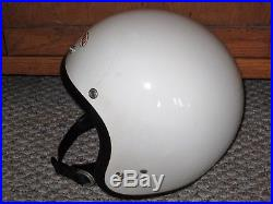 Vintage 1978 Bell R-t White Open Face Racing Motorcycle Helmet Size XL (7-5/8)