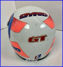Vintage 1994 Dyno D-Force BMX Motocross Bicycle Red Blue Open Face Helmet Size L