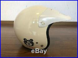 Vintage 80s Old SHOEI Motocross Open-Face Helmet VJ-1 Size M Jeff Ward
