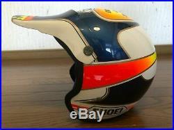 Vintage 80s Old SHOEI Motocross Open-Face Helmet VJ-201 Size M