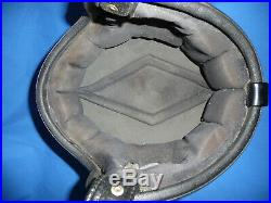 Vintage Arthur Fulmer AF-20 Blue Metal Flake Motorcycle Helmet 3/4 Open Face