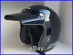 Vintage BELL MAGNUM LTD White Helmet Size 7 3/4 Open Face Motorcycle AHRMA USA