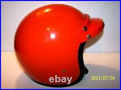 Vintage BELL RT DOT Road & Trail Open Face ORANGE Motorcycle Helmet Size 7 1/4