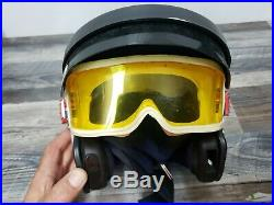 Vintage Bell MAG 4 Helmet Motorcycle Racing Open Face With ilc goggs goggles