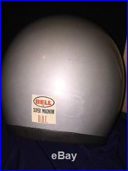 Vintage Bell Magnum 10-75 Motorcycle Helmet open face Original Pads 75/8 61CM