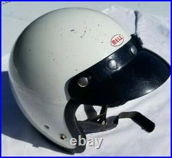 Vintage Bell Magnum 2 II Open Face 7-1/8 57cm Racing Helmet 1978 Visor