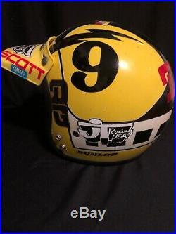 Vintage Bell Magnum 3 10-80Motorcycle Helmet open face Original Pads 73/8 59CM