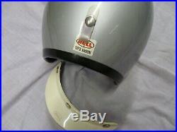 Vintage Bell Open Face Super Magnum Motorcycle Helmet With 520 Visor Peak