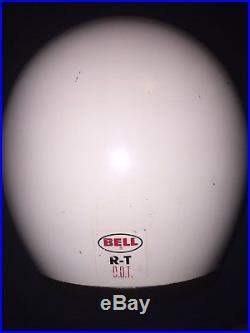 Vintage Bell R/T 4-1977Motorcycle Helmet open face Original Pads 71/8Adult