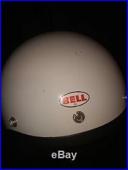 Vintage Bell R/T 5-1977Motorcycle Helmet open face Original Pads 7 1/2 Adults