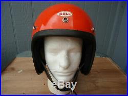 Vintage Bell R-t Helmet 4-78 Open Face Orange Size 7 56 CM