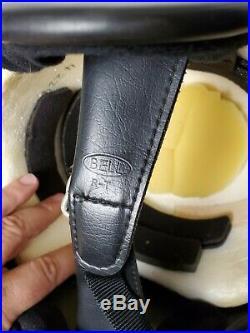 Vintage Bell Rt 3/4 Open Face Motorcycle Helmet Blue R-t Size 7 1/4 M