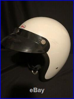 Vintage Bell ToP-Tex R/T Early 70s Motorcycle Helmet open face Original 7 5/8