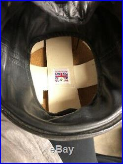 Vintage Davida Classic Open Face Helmet W Halcyon Goggles Small Pudding Bowl