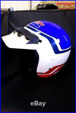 Vintage HONDA Genuine Open Face Helmet Motocross Size M Tricolor 70s 80s