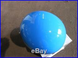 Vintage NOS Buco Size XL Blue Fiberglass Open Face 5 Snap Racing Helmet 1757-4