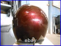 Vintage NOS Buco Size XL Candy Brown Fiberglass Open Face 5 Snap Racing Helmet