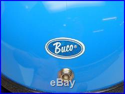 Vintage NOS NIB 1976 Buco Open Face Blue Motorcycle Helmet 5 Snap Small 1830-1