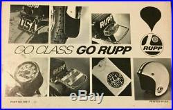 Vintage Rupp Minibike Go Kart Ruppster Open Face Motorcycle Helmet ORIGINAL Vtg