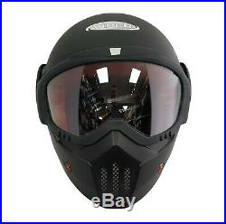 Viper RS08 Raid Modular Open Face With Goggles Mask Motorcycle Helmet Matt Black